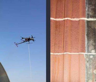 Drone pour nettoyage de toitures